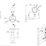 handrail round o ring bracket